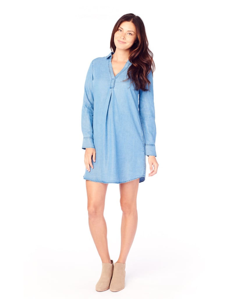Ingrid & Isabel Long Sleeve Chambray Dress