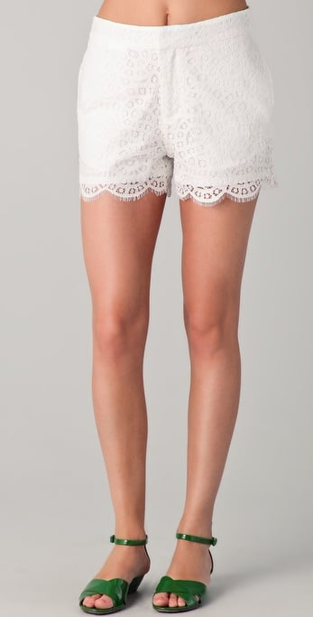 We love that these shorts deliver that girlier vibe without compromising a classic fit.  Madewell Lace Shorts ($98)