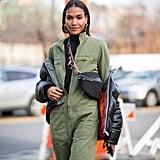 Winter Outfit Idea: A Turtleneck Under a Jumpsuit