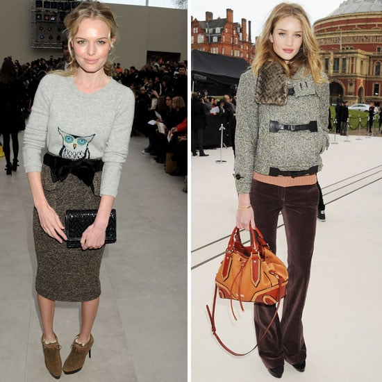 Burberry London Fashion Week 2012 Front Row Celebrities: Kate Bosworth, Rosie Huntington-Whiteley and More