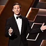 """""""I have to say, I'm so honored to join the proud ranks of past Emmy hosts. Incredible, legendary people like Robert Blake and Bill Cosby . . . oh no, I gotta get outta here."""" — Calling out previous hosts."""