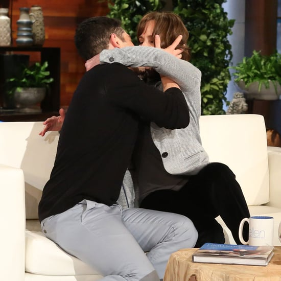 Sally Field and Max Greenfield Kiss on Ellen DeGeneres Show