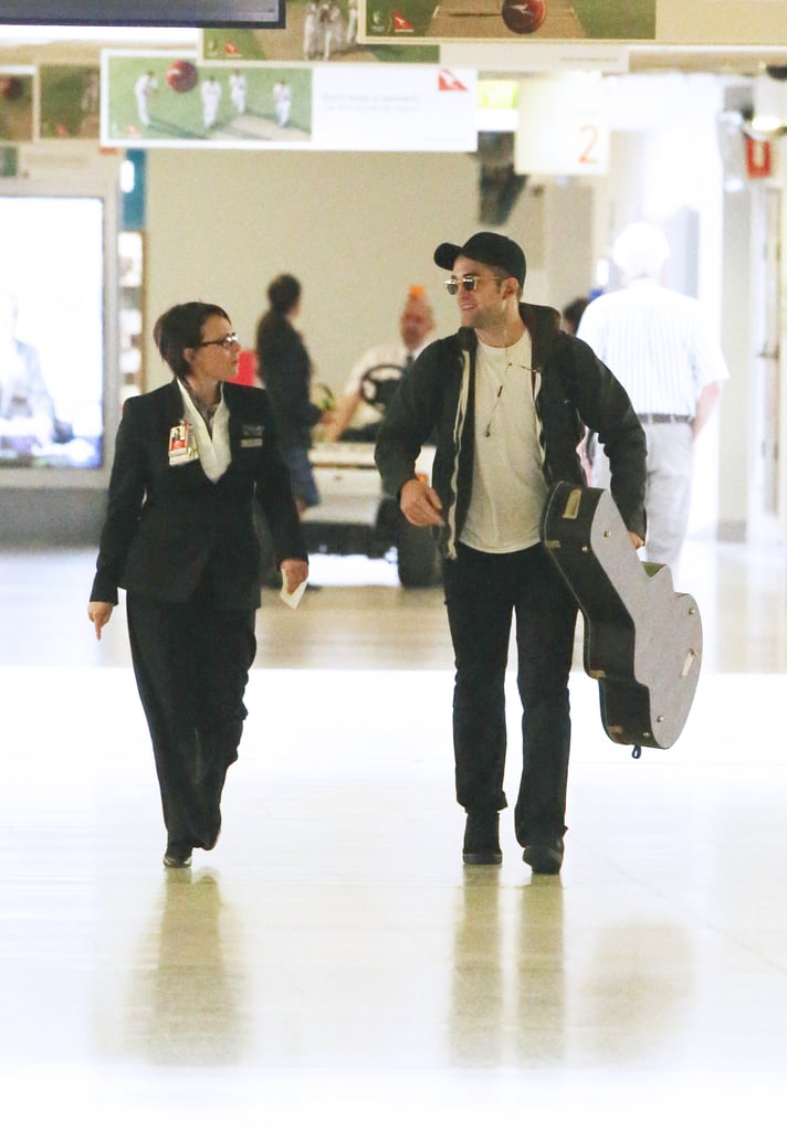 Robert Pattinson Sneaks Into Australia to Start Work on The Rover