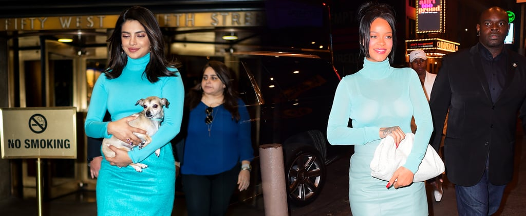 Priyanka Chopra and Rihanna Wore the Same Sexy Blue Outfit