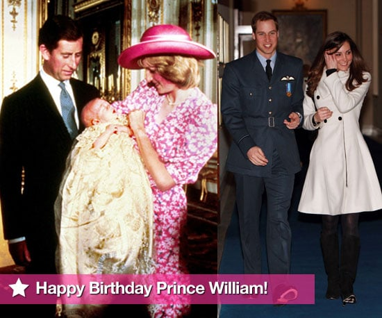 Picture Gallery of Prince William Birthday Baby Pictures With Princess Diana, Prince Charles, Prince Harry, Kate Middleton