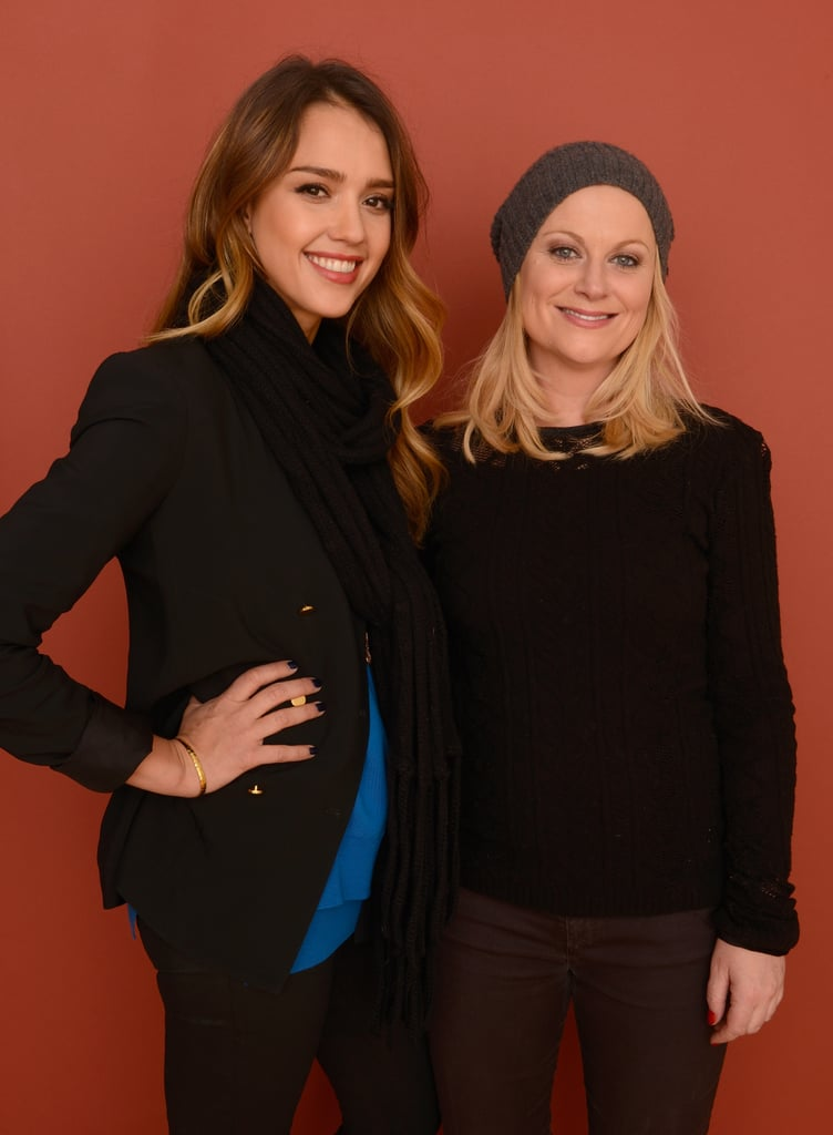 Jessica Alba and Amy Poehler took pictures during busy Sundance festivities.
