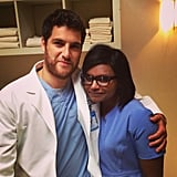Kaling scrubbed in with Pally. Source: Instagram user mindykaling