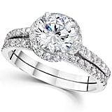 Pompeii3 Halo Round Enhanced Diamond Engagement Ring