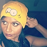 Mindy Kaling put a fashion-forward spin on Homer Simpson. Source: Instagram user mindykaling