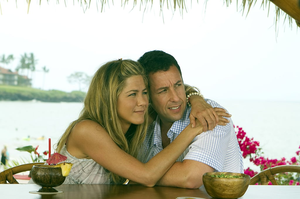 "Jennifer Aniston and Adam Sandler recently joined forces for their new Netflix film, Murder Mystery, but if you're a fan of their tight-knit friendship, you know this isn't their first movie together. After meeting in the '90s and bonding over French toast, the pair starred in 2011's Just Go With It. In a previous interview with Access Hollywood, Sandler couldn't help but gush about how much he loved working with Aniston in the romantic comedy. ""I couldn't believe how quick and funny Jennifer [is],"" he said. ""I know she is [funny] in real life, but it was pretty amazing when we were together how much fun [we had] and how she added and ended up beating me in scenes. I'd walk back to the trailer saying, 'I gotta get some writers to help me.'"" I can't wait to see them together again in Murder Mystery, which hits Netflix on June 14.      Related:                                                                                                                                Jennifer Aniston Wants a Friends Reboot Just as Much as We Do: ""Anything Can Happen"""