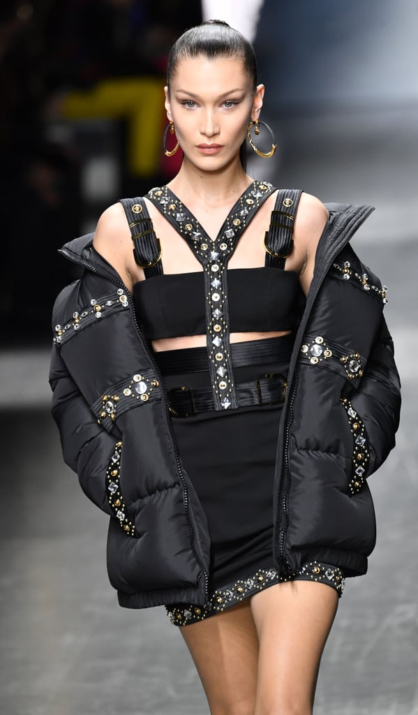 Bella Hadid Walking the Versace Men's Fall/Winter 2019/2020 Runway