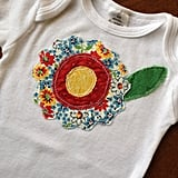 Baby Girl Onesie Appliqué With Flower ($12)