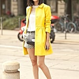 A sunshine yellow coat is guaranteed to brighten your day.