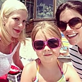 Tori Spelling and daughter Stella enjoyed some mother-daughter craft time.  Source: Instagram user torispelling