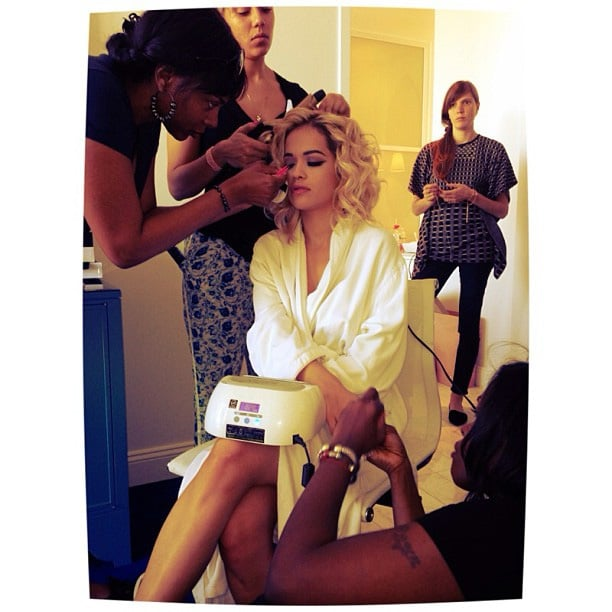 Rita Ora got her hair and makeup done. Source: Instagram user ritaora