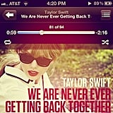 Listening to Taylor Swift
