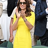 The Duchess of Cambridge dropped by Wimbledon to take in a few matches in early July.