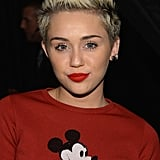 She's changed her hair from long to short and from brown to blonde over the past year, but it seems like Miley Cyrus is sticking to her peroxide hue . . . for now.