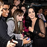 Katy Perry stopped for photos at the Night of To Many Stars benefit in NYC.
