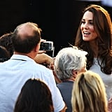 Kate chats with the crowd.