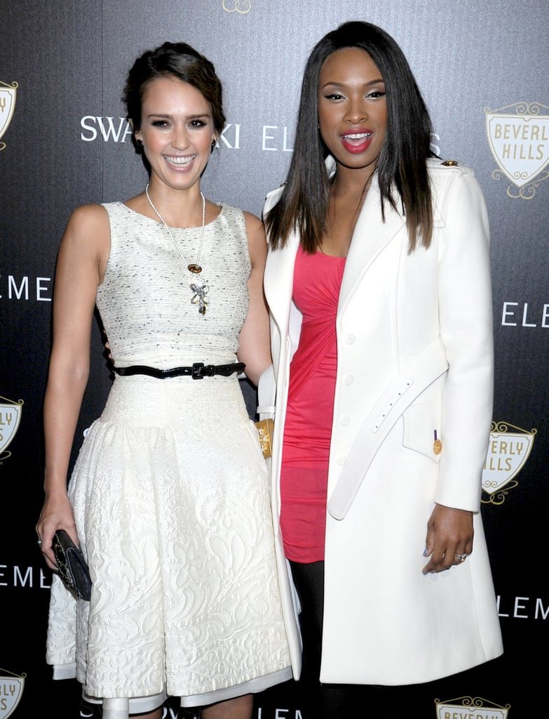 Jessica Alba and Jennifer Hudson cohosted a lighting ceremony in LA.