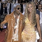 Sisqo and Beyoncé Knowles looked color-coordinated walking the red carpet together in 2000.