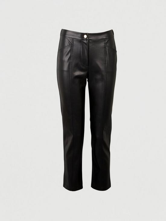 Michelle Keegan Elasticated Back PU Trousers