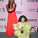 Issa Rae and Melina Matsoukas at the 2020 Essence Black Women in Hollywood Luncheon