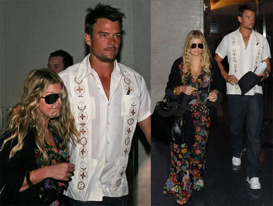 Photos of Fergie and Josh Duhamel Returning From Their Honeymoon
