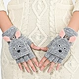 Greenery Rabbit Convertible Gloves