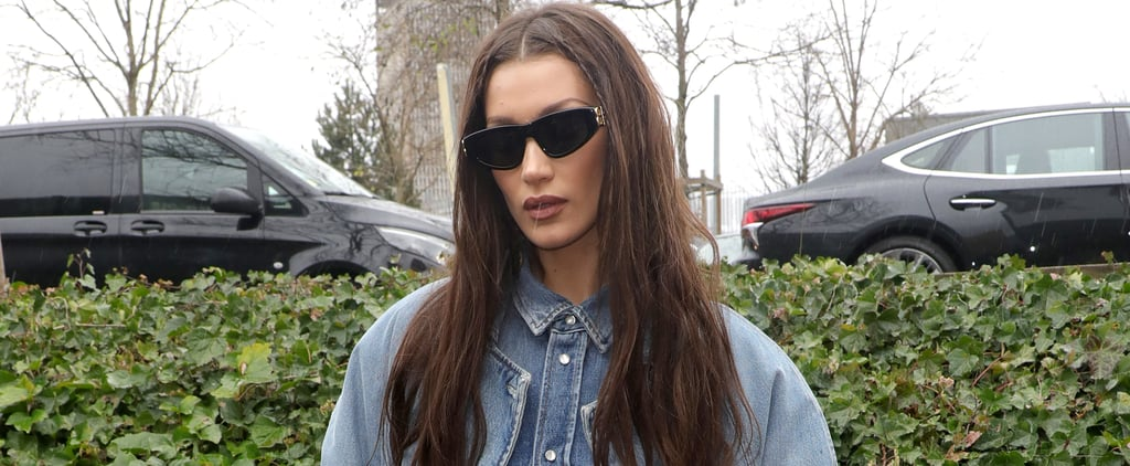 Bella Hadid Denim-on-Denim Paris Fashion Week Outfit Photos