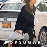 Katie Holmes arrived at the gym in NYC today.