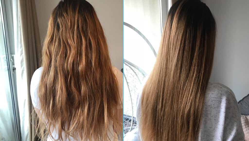 Before and After Using the Olaplex No.0 Intensive Bond Builder