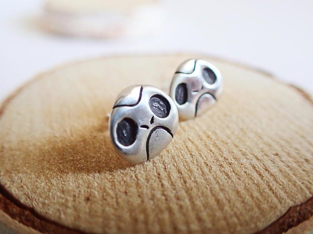 Silver Porg Earrings