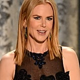 Nicole Kidman wore a detailed, blue gown to the 2013 SAG Awards.