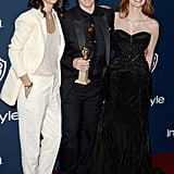 Jessica Chastain posed with producer Megan Ellison and her date at the InStyle party.