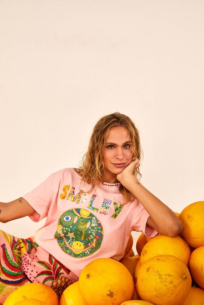 FARM Rio x Smiley's Patchwork T-Shirt
