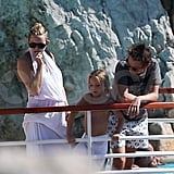 Kate Hudson, Ryder Robinson, and Matt Bellamy together in Antibes.