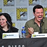 Alex Borstein and Seth MacFarlane at Comic Con in July 2019