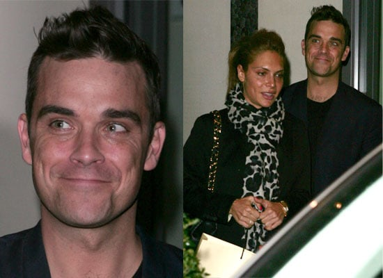 Photos of Robbie Williams in London, Robbie Williams Meets With The X Factor Contestants, Robbie Williams Out With Ayda Field