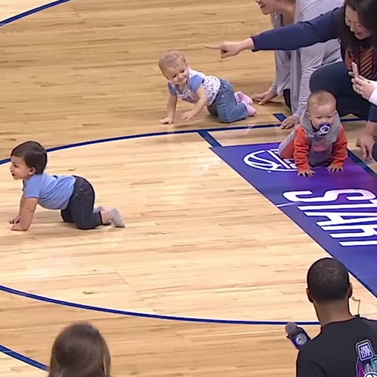 ESPN Baby Race During NCAA Basketball Game