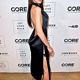 Bella Hadid's Black Dress and Chrome Hearts Body Chain