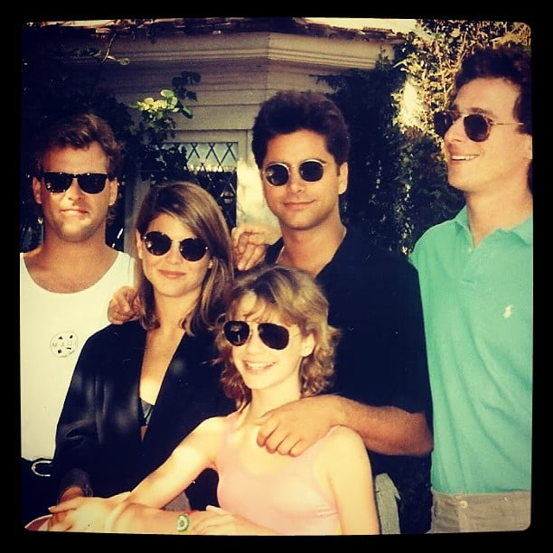 "Andrea: ""1989. Hanging at the cool kids table. Oh yeah and@bobsaget too. ; ) cc: @loriloughlin @cooler111@johnstamos"""
