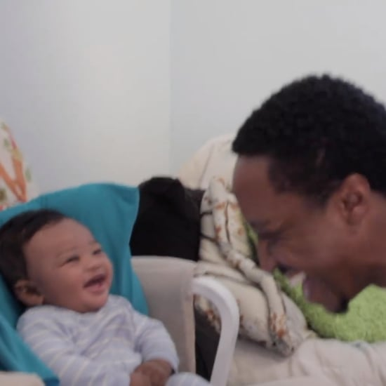 Baby Hysterically Laughing at Dad Rapping