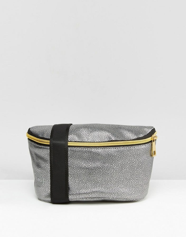 Mi-Pac Pebbled Bumbag In Silver
