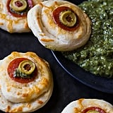Monster Eyeball Pizzas