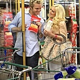 Heidi and Spencer at 99 Cent Store