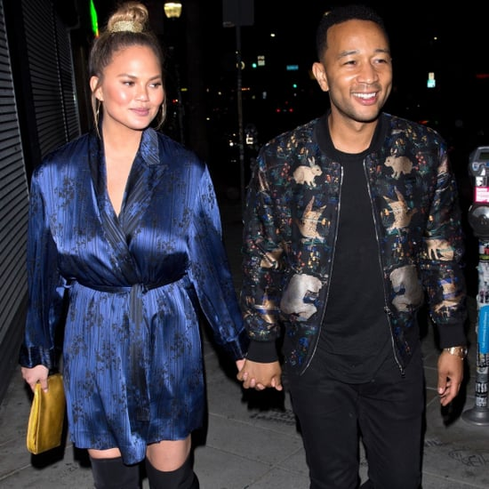 Chrissy Teigen Peep-Toe Boots With John Legend June 2018