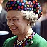 Queen Elizabeth II tours Budapest in 1993.