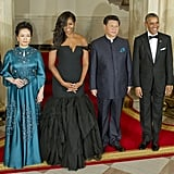 All Eyes Were on Peng's Teal Gown at the 2015 State Dinner